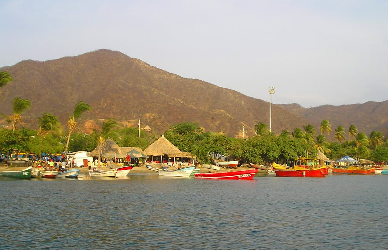 boats in Taganga. Safety. And why Taganga (Colombia) is worth a Visit