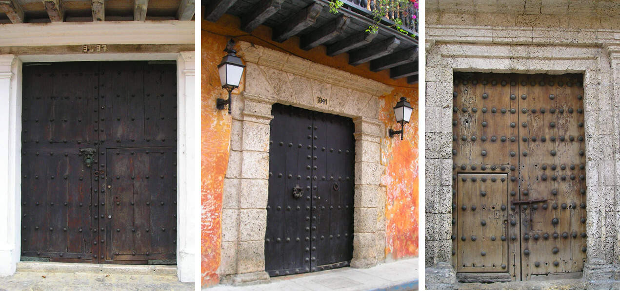 doors in Cartagena, Colombia