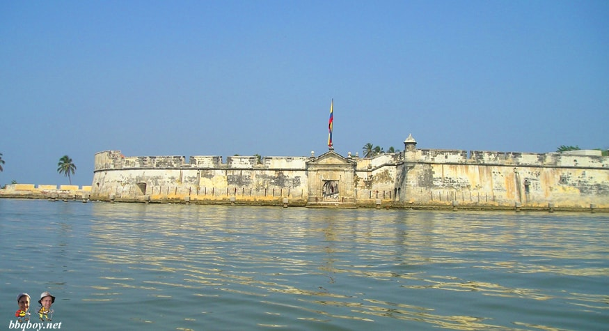 fort in the harbor, cartagena colombia