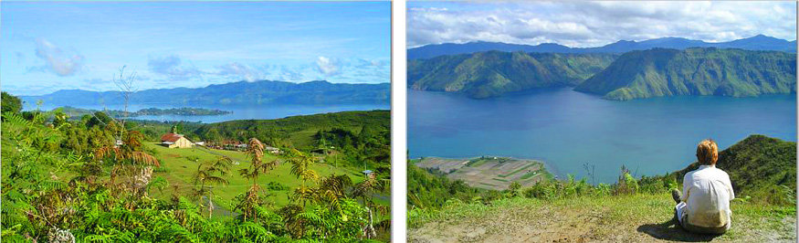 views over lake toba, sumatra, indonesia