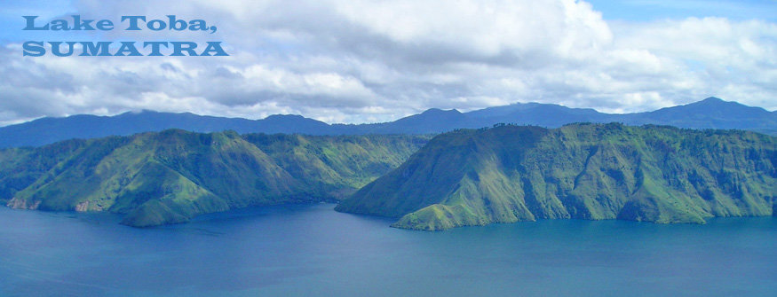 views over lake toba, sumatra