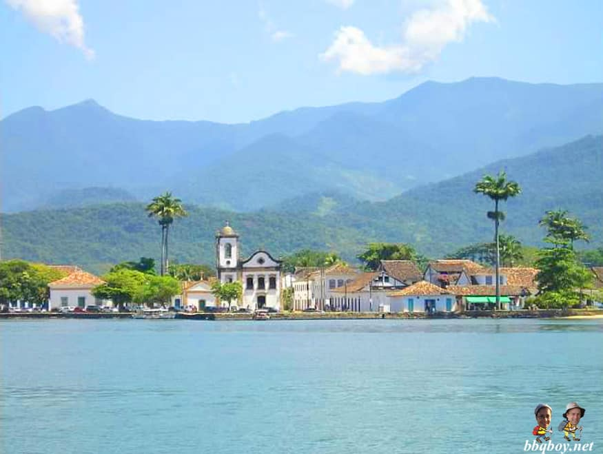 Paraty, Brazil from  the water