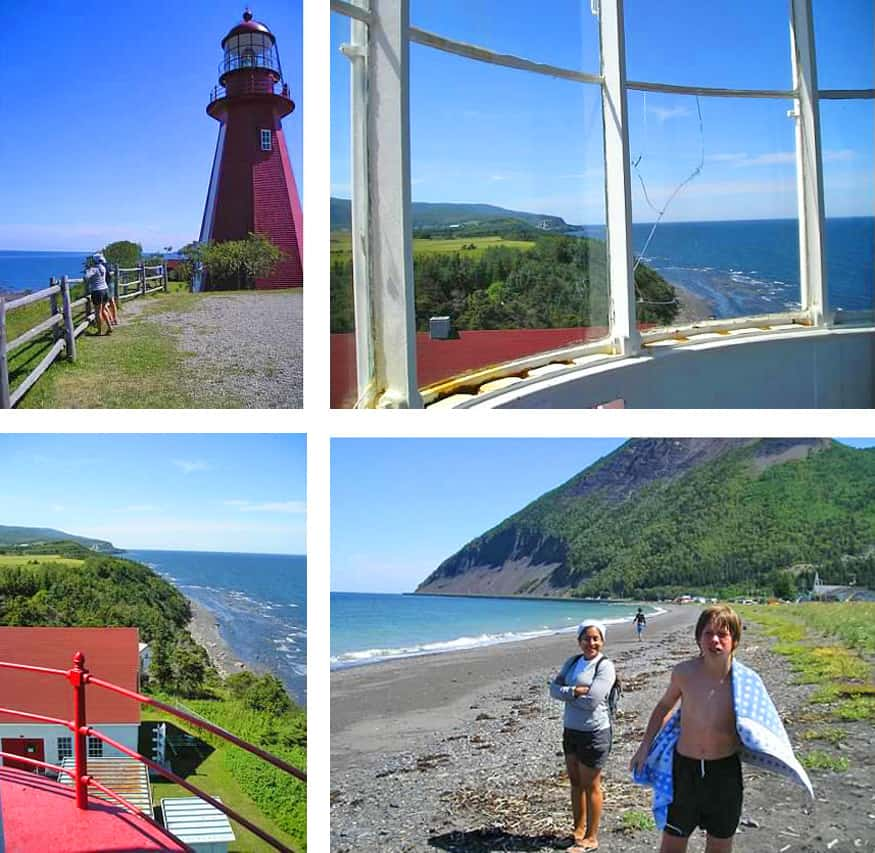 lighthouses in the gaspe, quebec