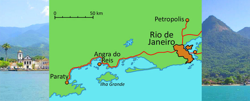 map of paraty and ilha grande, brazil
