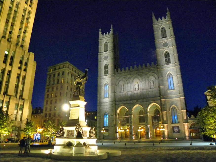 Notre Dame Cathedral in Old Montreal