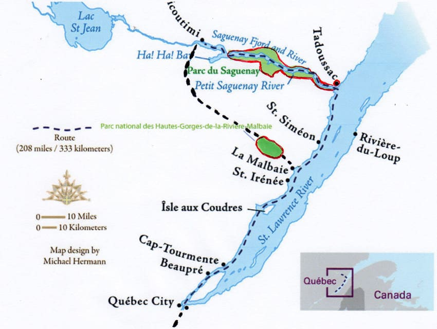 Road Trip to Quebec's North Coast map