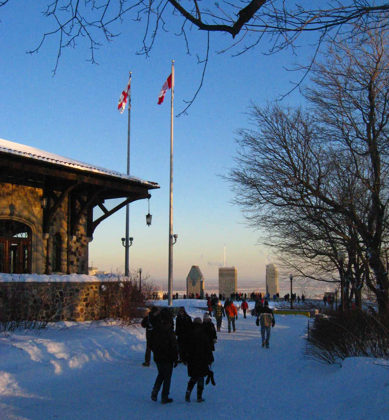 Montreal in the winter on Mont Royal
