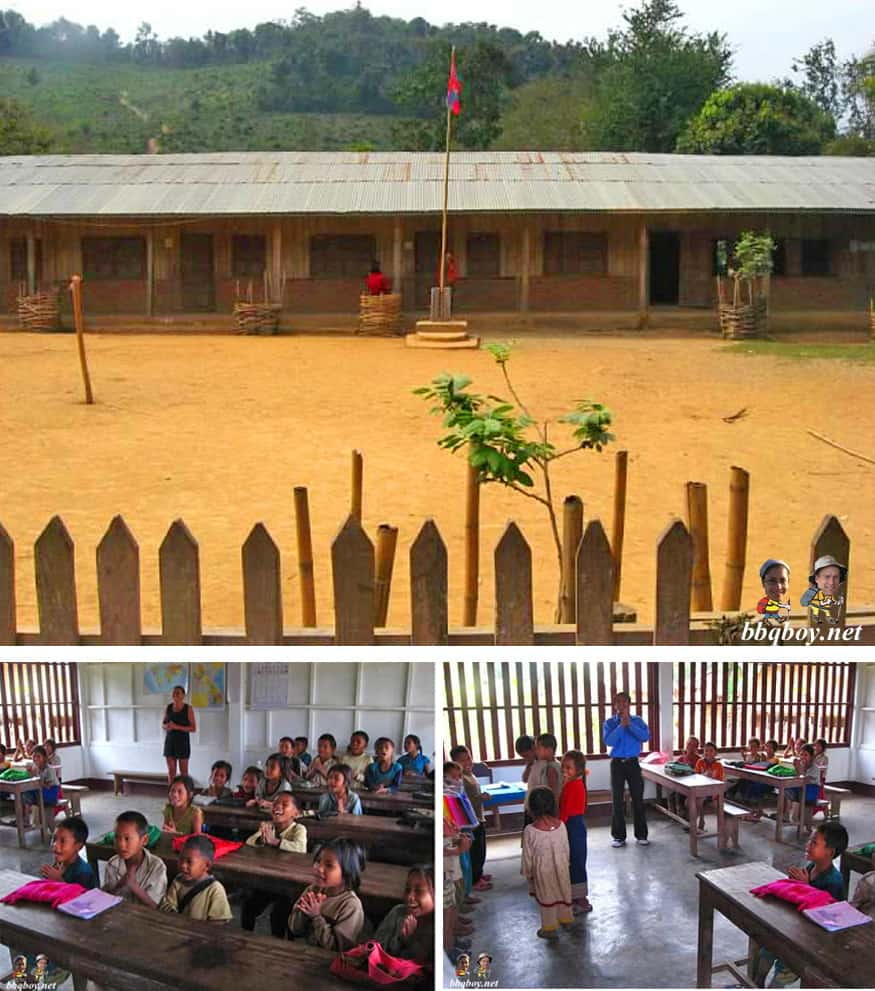 school in northern Laos