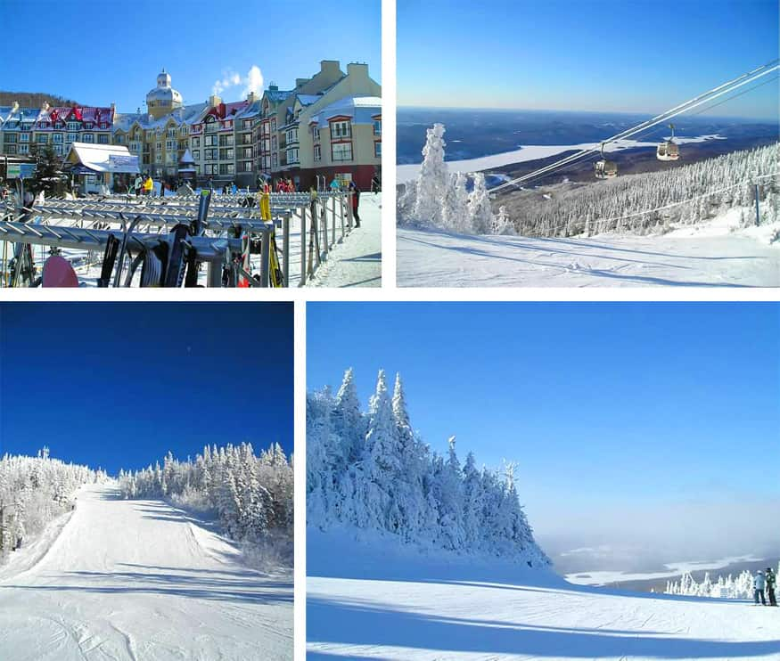 skiing in mont tremblant, quebec