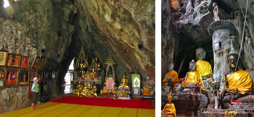 temple in cave, Chiang Dao, Thailand
