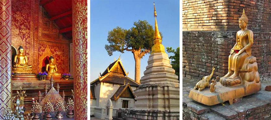 temples and buddhas in Chiang Mai, Thailand