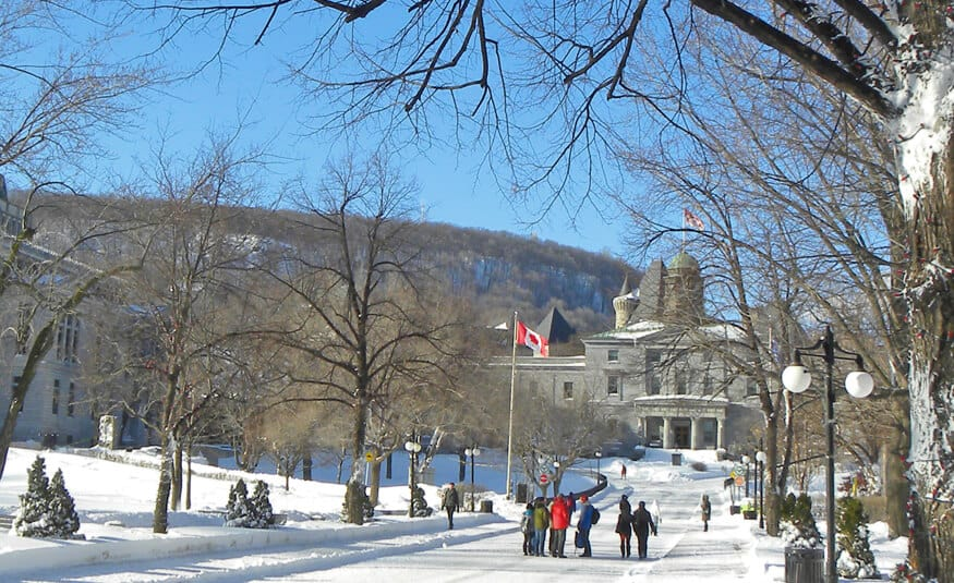 Montreal in the winter, Mcgill campus