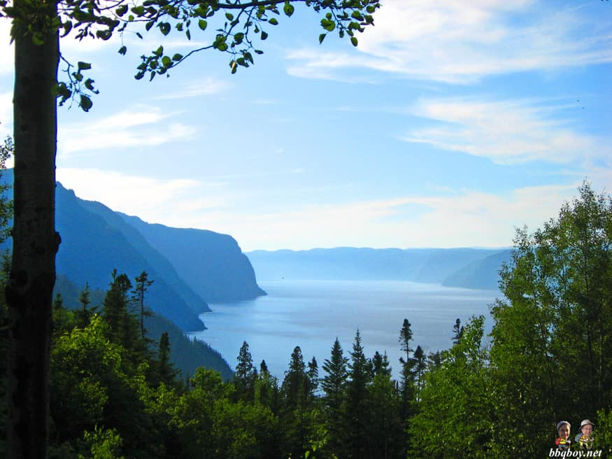 views of the Saguenay flord from L'Anse Saint-Jean, quebec