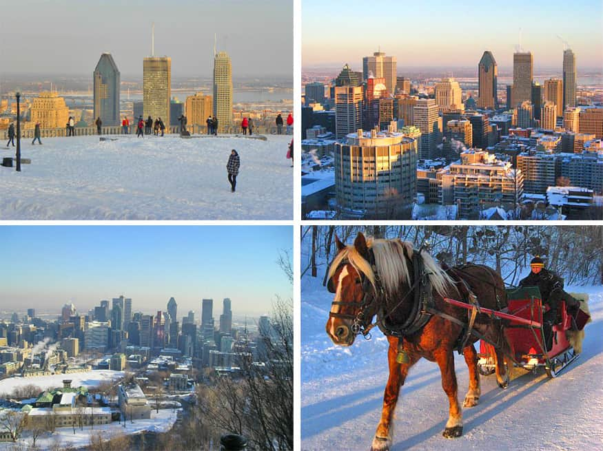 winter views in Montreal, Canada