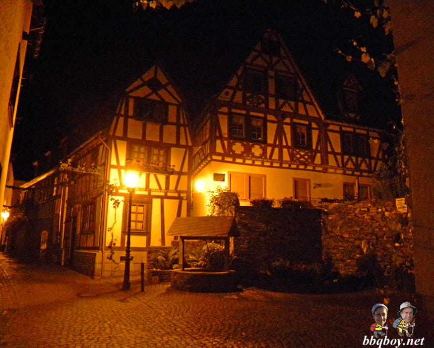 Night in Bacharach, Germany
