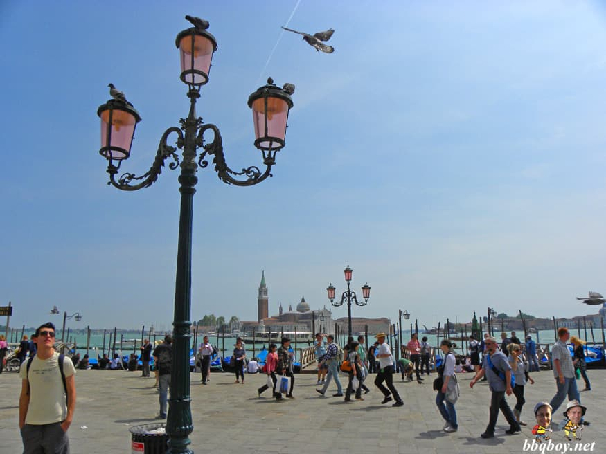 street lamp and views, venice, italy