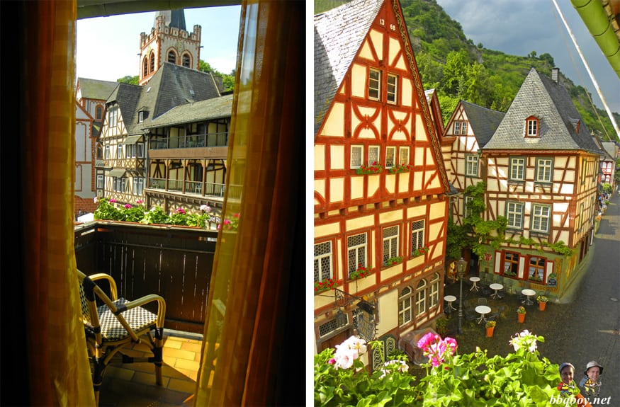 views fromHotel Am Markt, Bacharach, Germany
