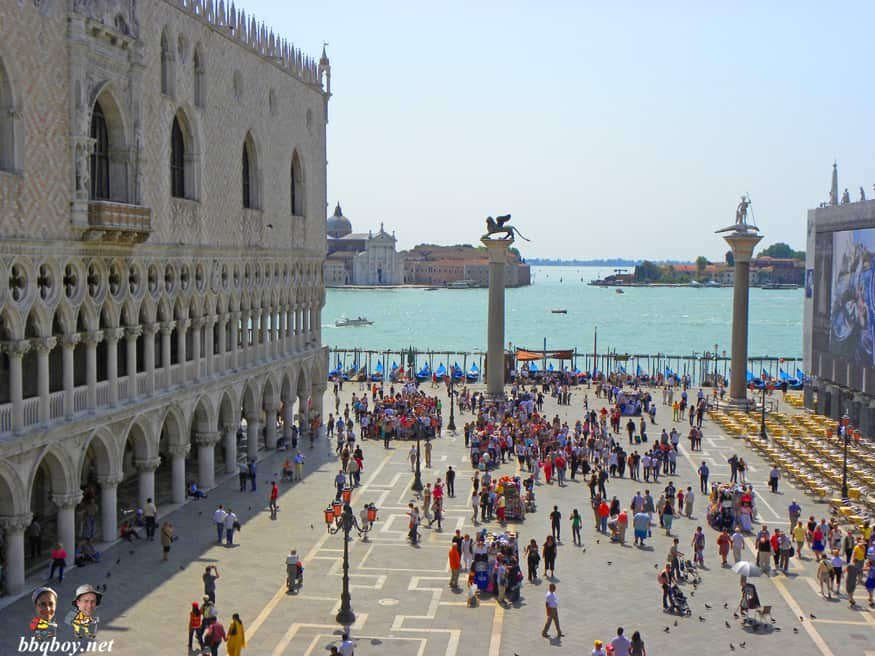 views over Piazza San Marco, St. Mark's square, venice