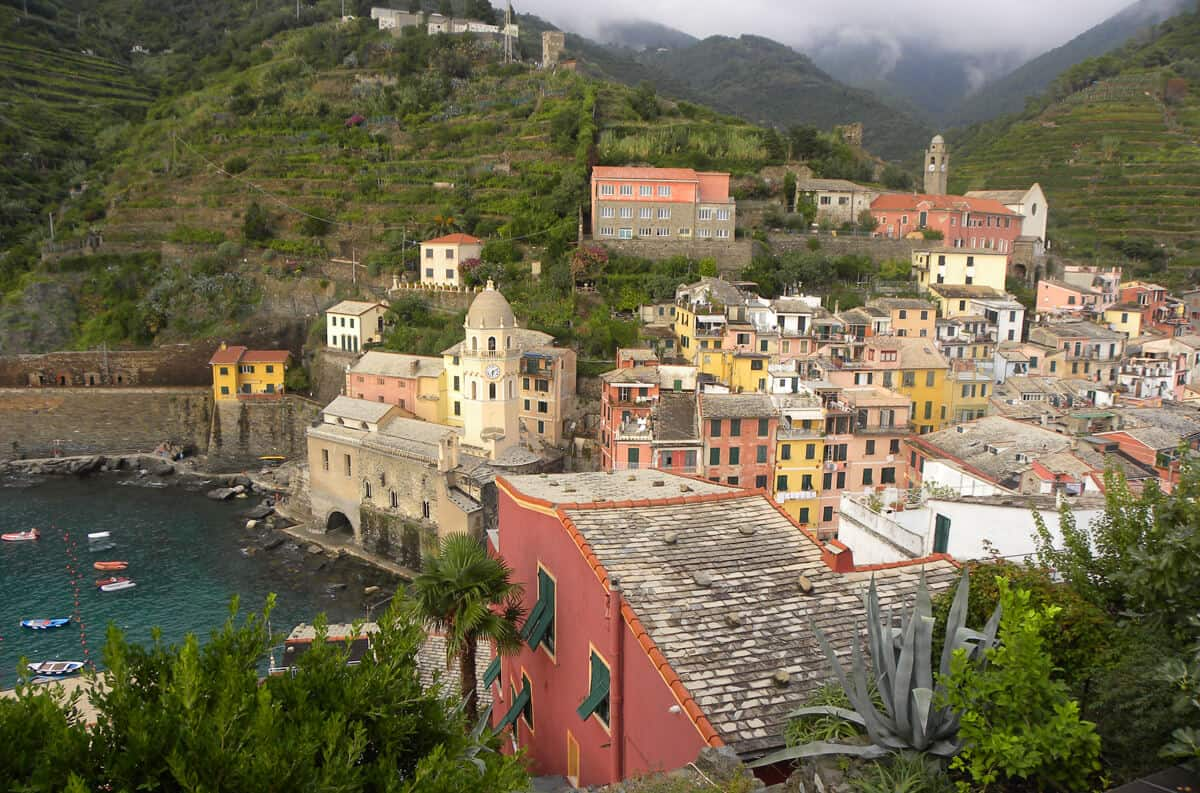 pretty town of Vernazza Italy