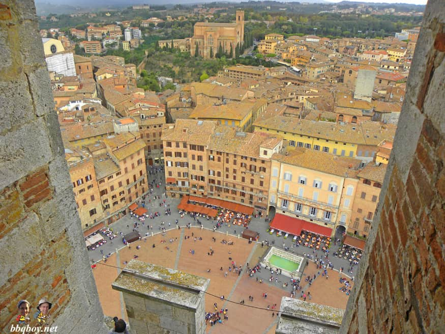 views from Torre del Mangia, siena, italy (1)