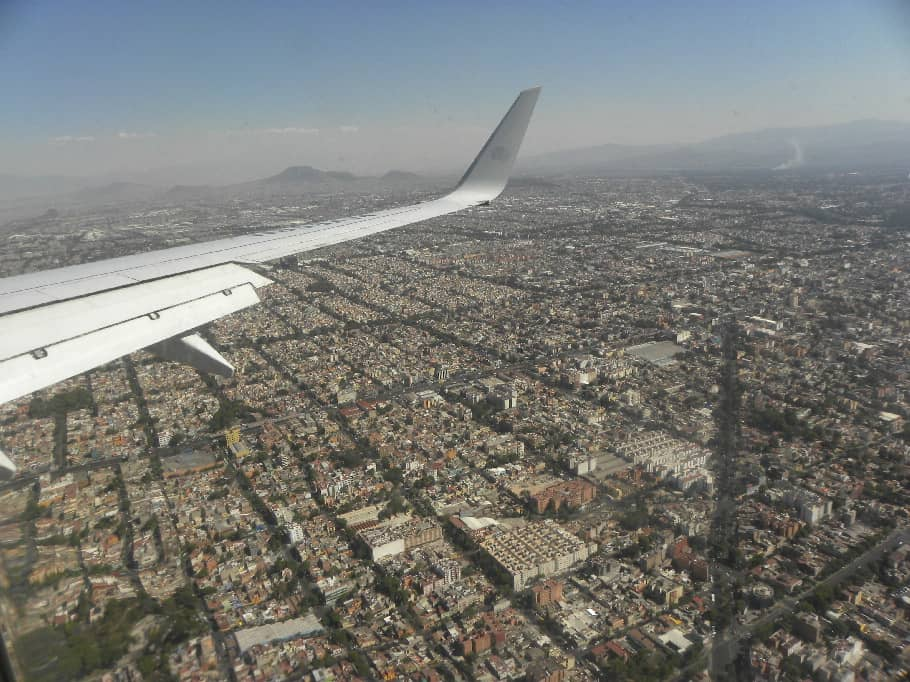 Over Mexico City
