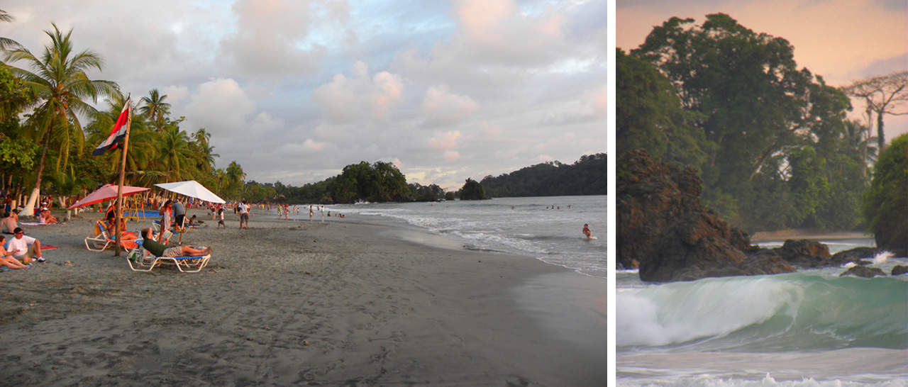The main public beach in Manuel Antonio