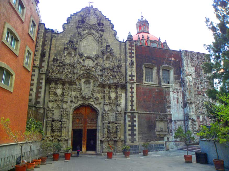 church in centro historico, mexico city