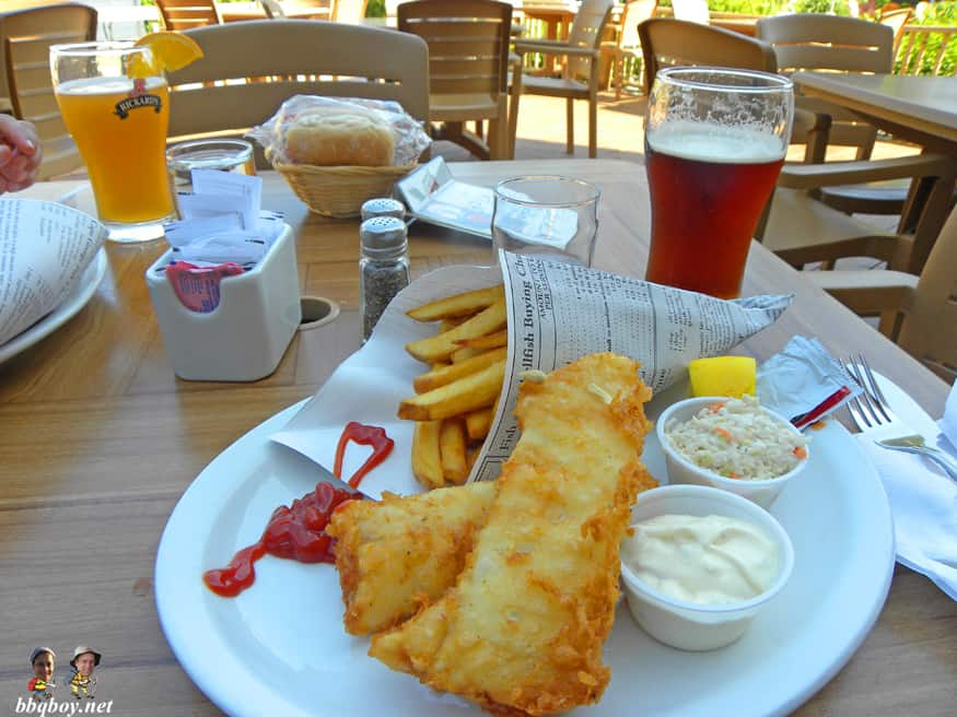 Fish and Chips at Hotel Beluga, Tadoussac