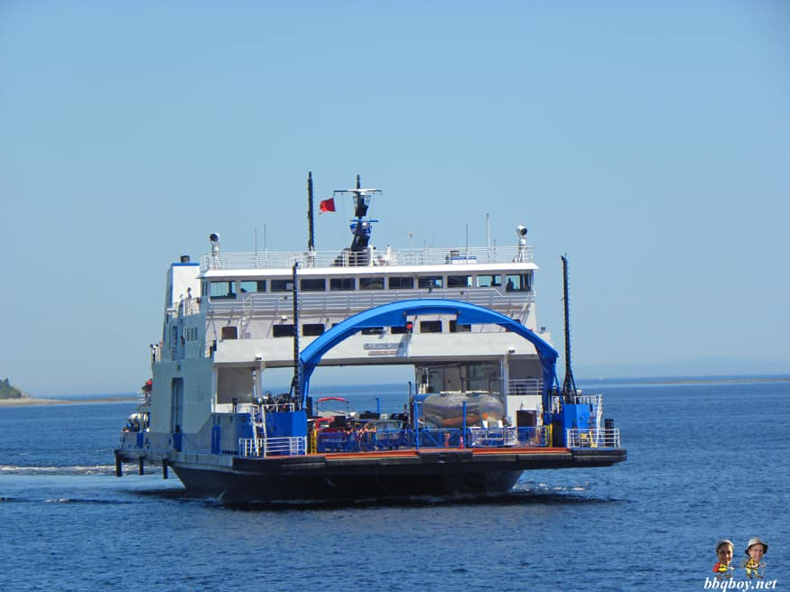 ferry across the saguenay to Tadoussac, Quebec