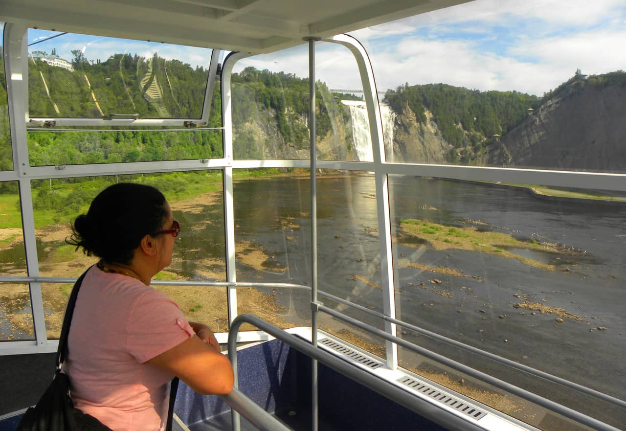 Visiting the Montmorency Falls
