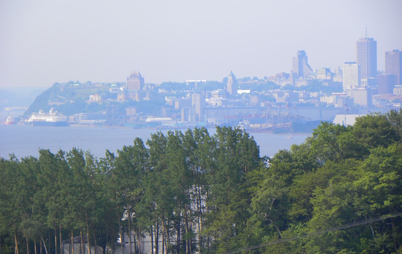 Views of Quebec city from Montmorency