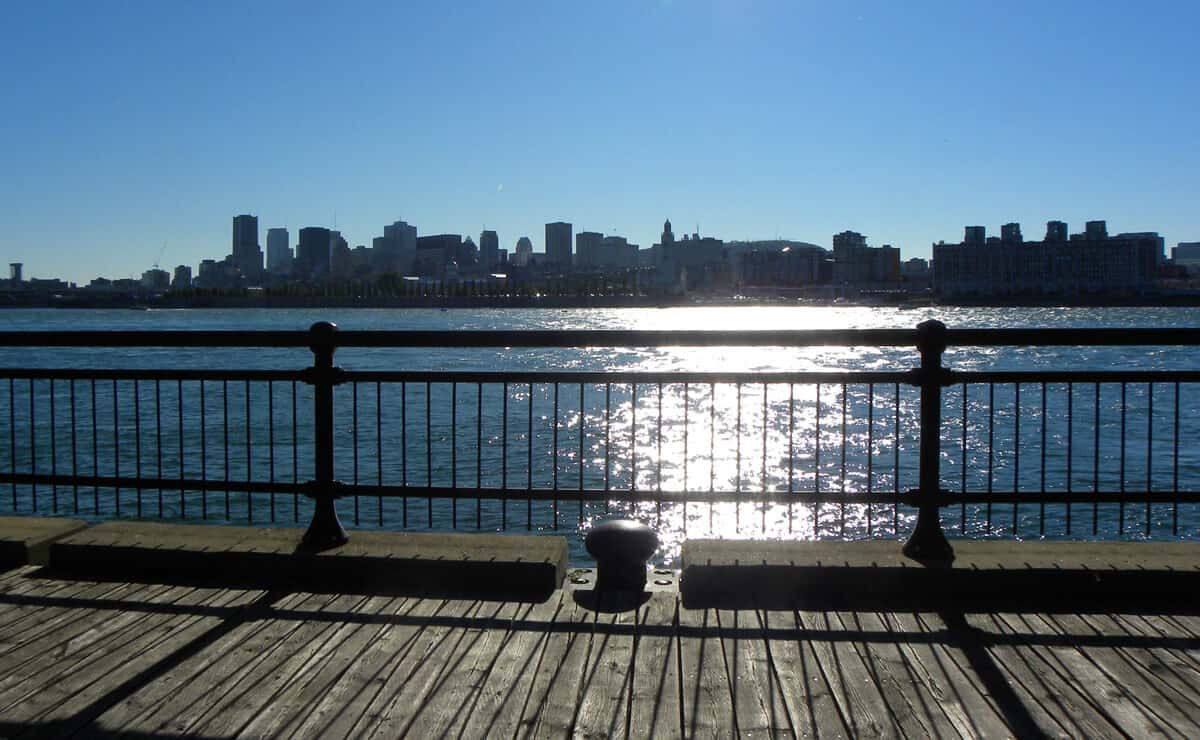 Cruising the Old Port and St. Lawrence river in Montreal