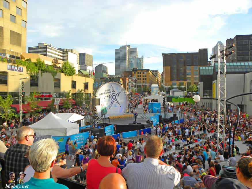 Crowds at the annual Just for Laughs festival, Montreal, Canada