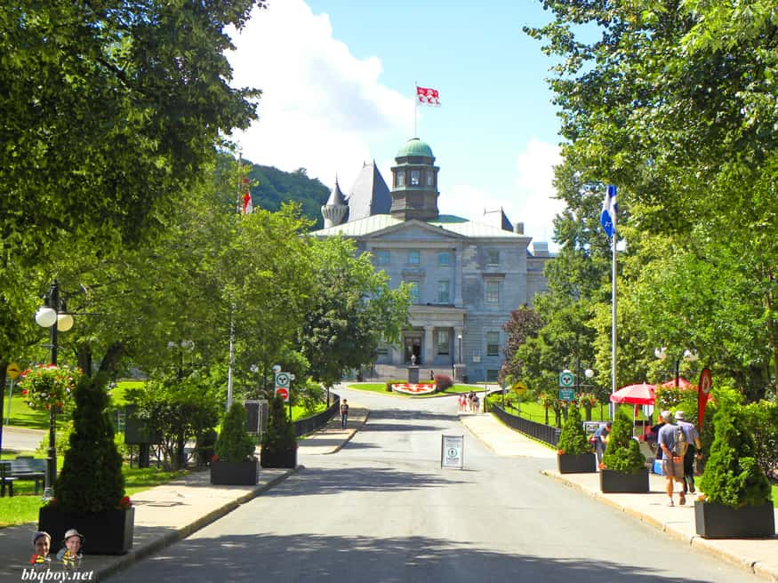 McGill University campus in the heart of downtown Montreal
