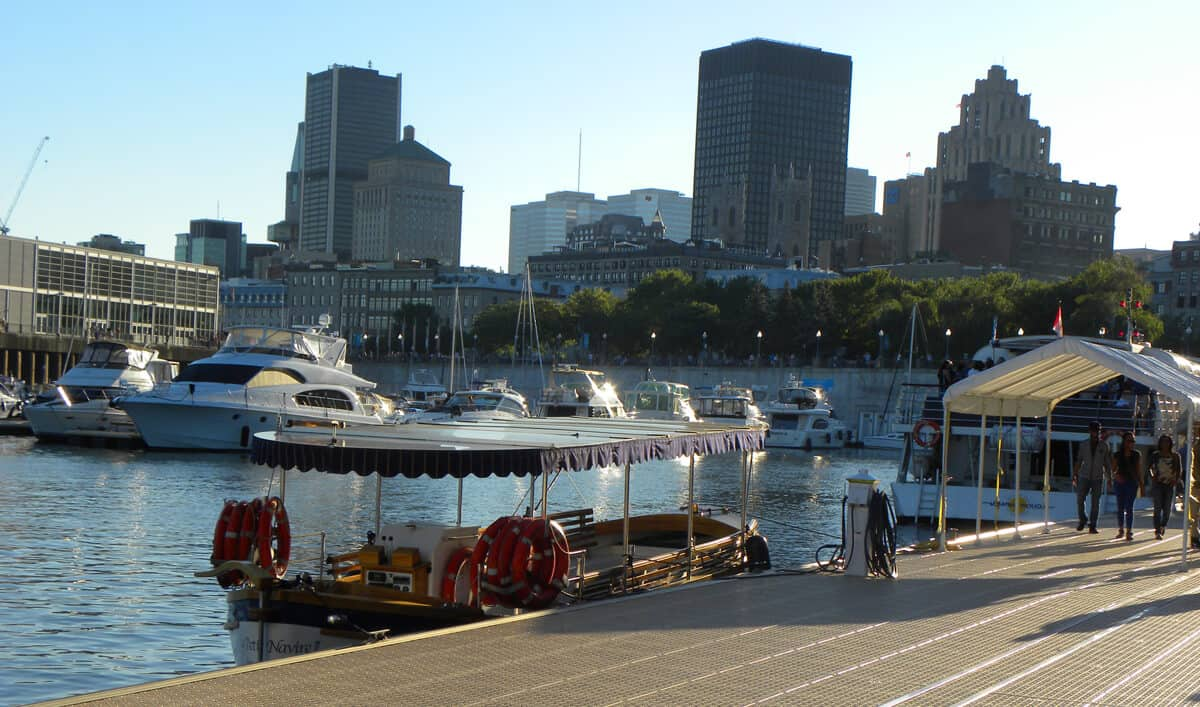 pier at Montreal's old port. Beautiful Montreal in the summer