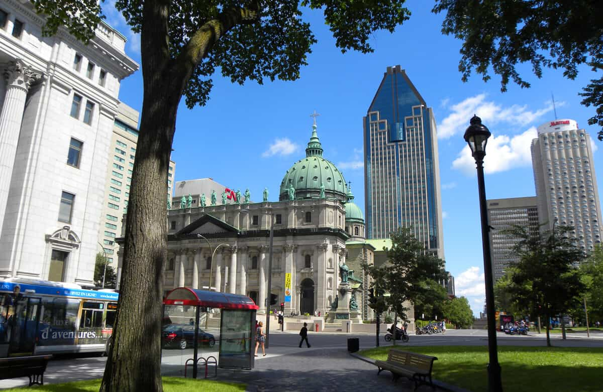 Downtown. Beautiful Montreal in the summer