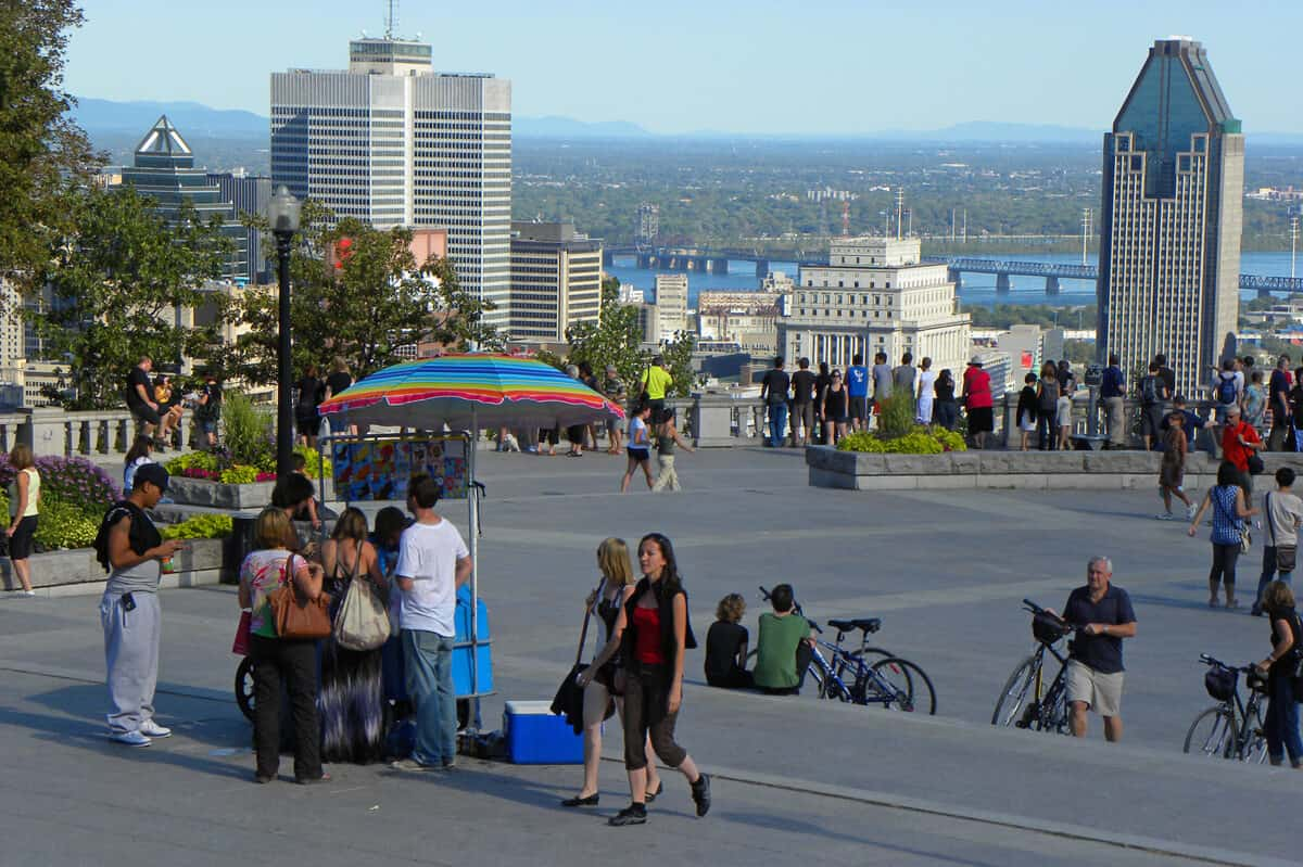 Views of Montreal from the mountain