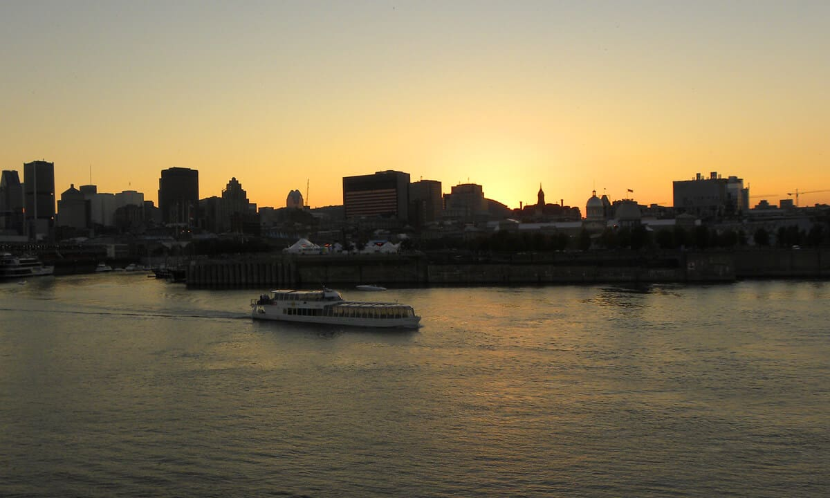 Dusk views of Old Montreal