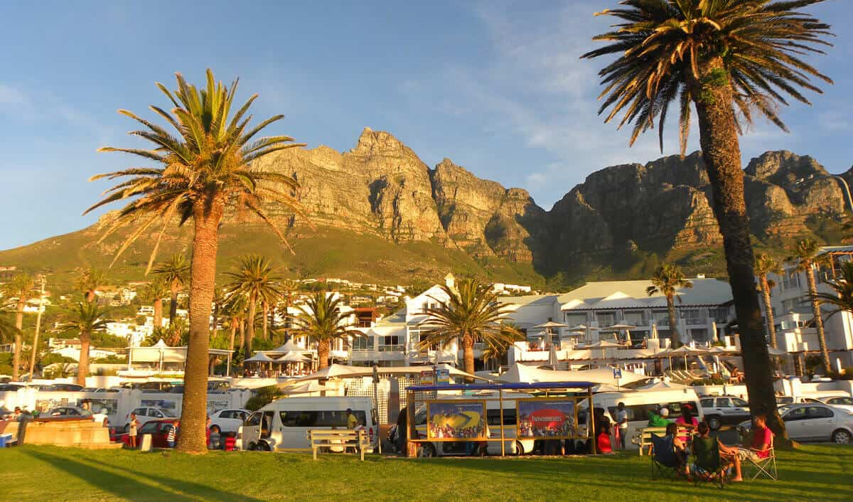 Go for drinks and dinner at Camps Bay, Cape Town