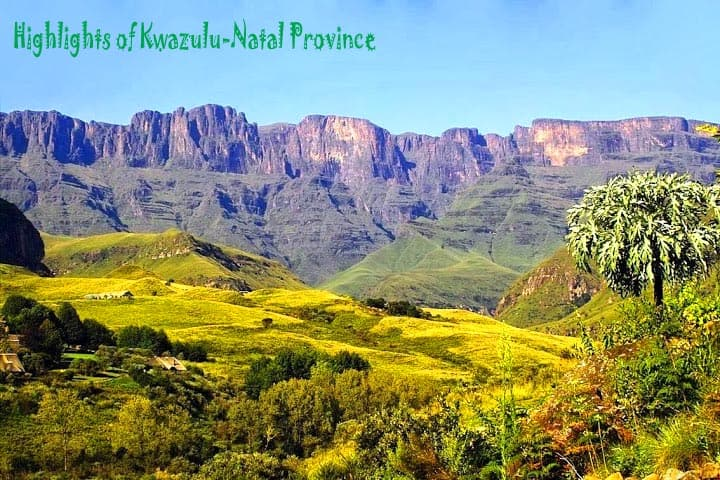 Highlights of Kwazulu-Natal Province, south africa