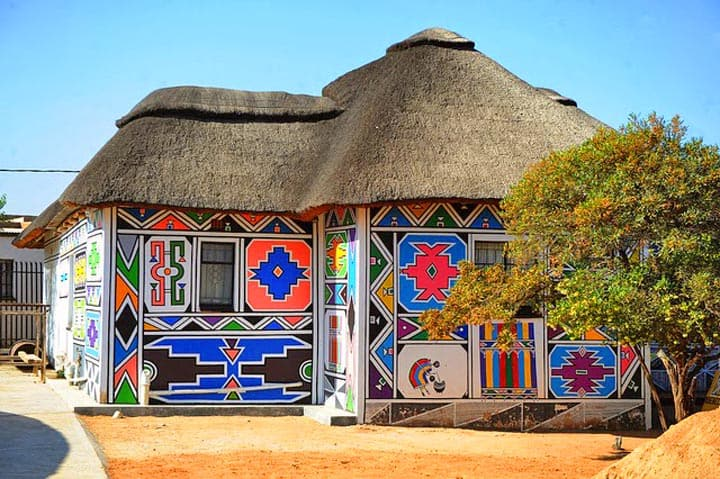 Ndebele house day trip from pretoria south africa