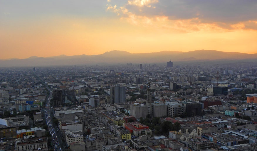 sunset in Mexico City. Detailed Guide on What to Do and See in Mexico