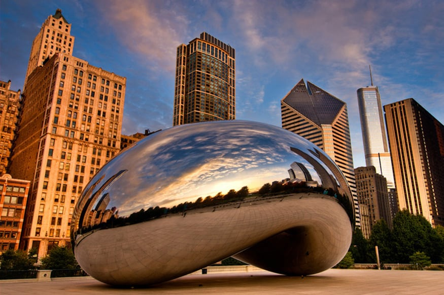 Chicago Bean, usa. Top Places in USA