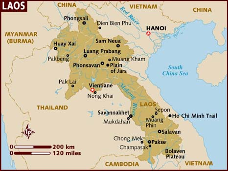 Laos Travel Guide: Where to Go and What to Do. Map