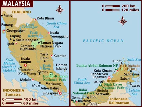 What to See and Do in Malaysia. Map