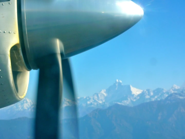 Himalayas. Views from a Plane Window