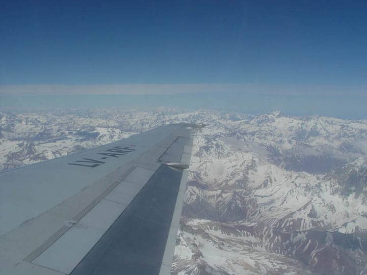 andes from the air. Views from a Plane Window