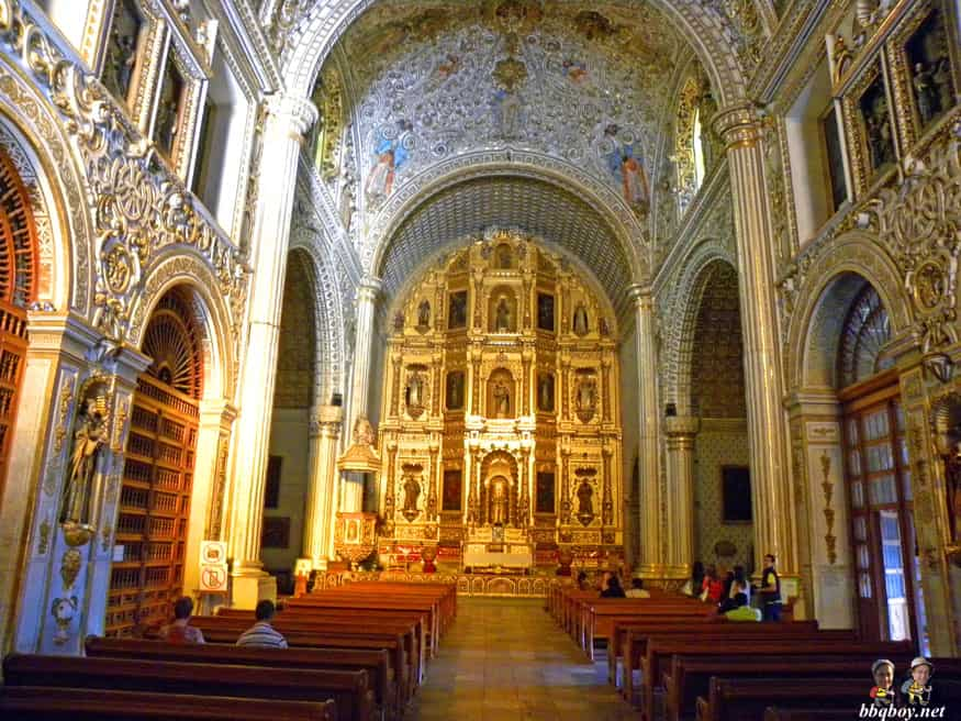 inside of Santo Domingo church, Oaxaca, Mexico