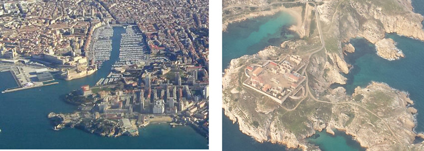 marseilles-France. Views from a Plane Window