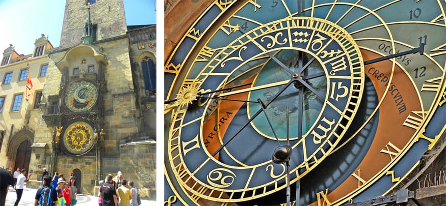 Astronomical clock on the side of the Old Town Hall, Prague